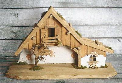 Kerststal AUGSBURG KLEIN   40x15 cm   voor 10 cm figuren
