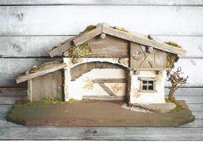 Kerststal HAIGRUß  66 x 30 cm   voor 10-12 cm figuren