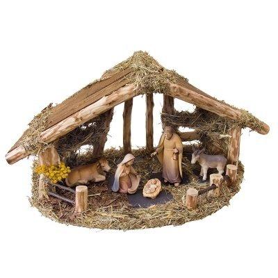 Kerststal RUSTIKAL    voor 15-20 cm figuren exclusief figuren