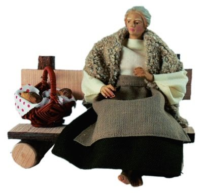 Herderin zittend voor RUCO 22 cm figuren