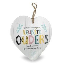 Ouders - Baby collectie  Hartje in Porselein 15 x 1 x 15 cm