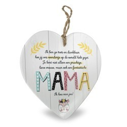 Mama - Baby collectie  Hartje in Porselein 15 x 1 x 15 cm