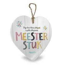 Meesterstuk - Baby collectie  Hartje in Porselein 15 x 1 x 15 cm