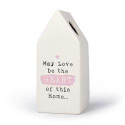 Home - Huisvaasje in porselein 6.6 x 6.5 x 15 cm