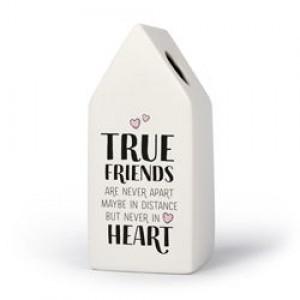 Friends - Huisvaasje in porselein 6.6 x 6.5 x 15 cm