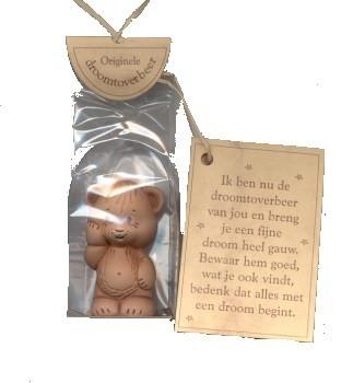 Droomtoverbeer Staand in Terracotta   5 cm