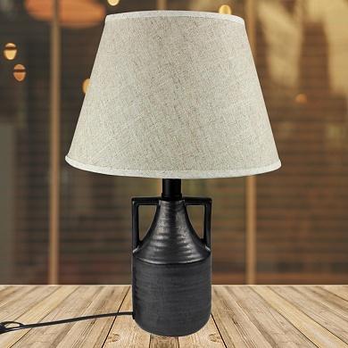 Настольная лампа DY18535 черный/белый абажур h40см 1х60W E27 HN19