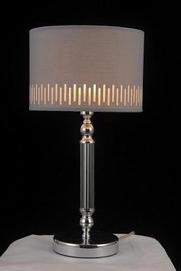 Настольная лампа MT39218/1 CH хром/серый абажур h480 1х40W E14