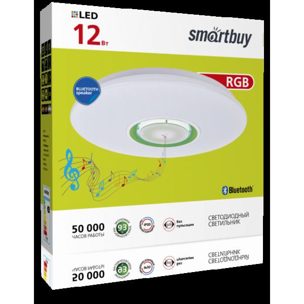 Светильник LED MP3 Bluetooth Smartbuy управляемый св-к-люстра св/д 24W(1820lm) 5730SMD 4K+RGB 400х70 Bluetooth-динамик