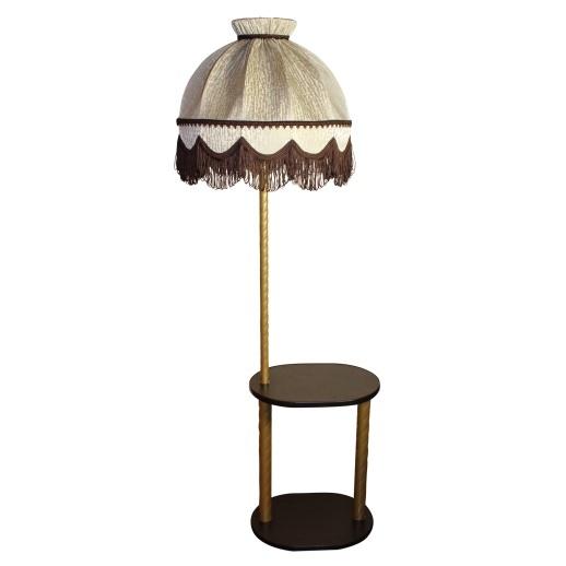 Торшер со столиком овал латунь/Венге 300464