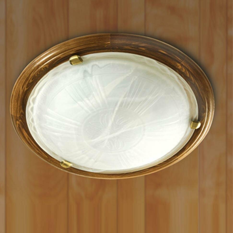 Светильник из дерева накладной СОНЕКС 336 SN 101 св-к накл. LUFE WOOD стекло E27 3*100W D560 110x560 бронз./корич.