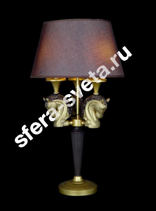 Настольная лампа Лошади H1958B/3T CFG+BRS  Veneto Luce