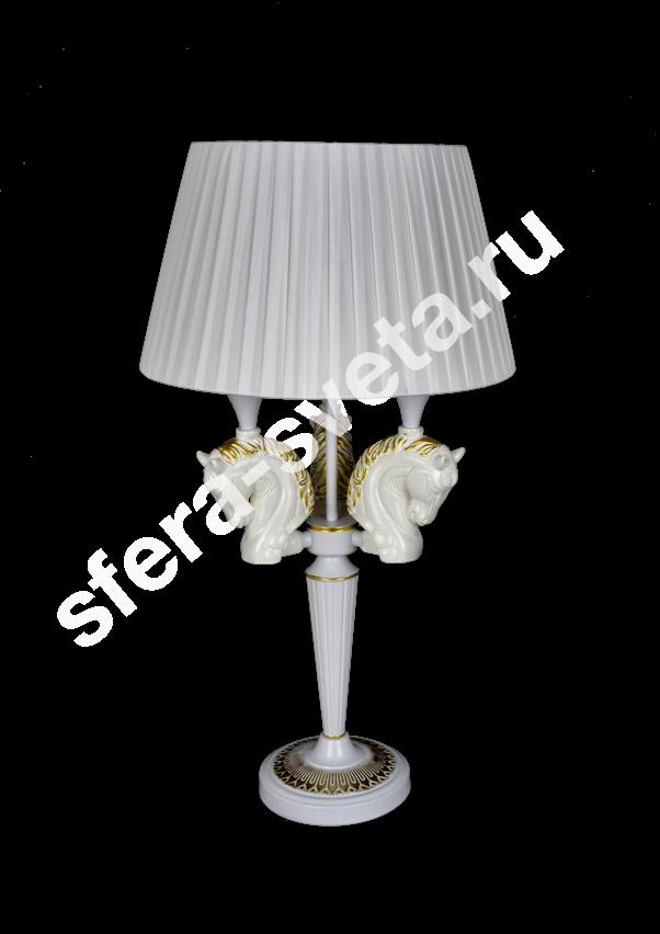 Настольная лампа Лошади H1958K/3 SWH+GD  Veneto Luce