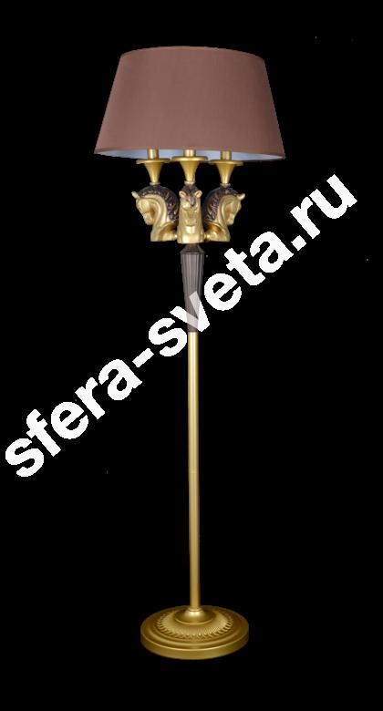 Торшер Лошади T1958B/3F CFG+BRS  Veneto Luce