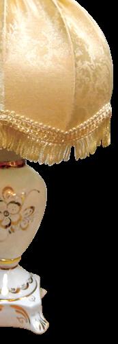 Светильник настольный «Светлячок» фарфор золото абажур Ретро шампань