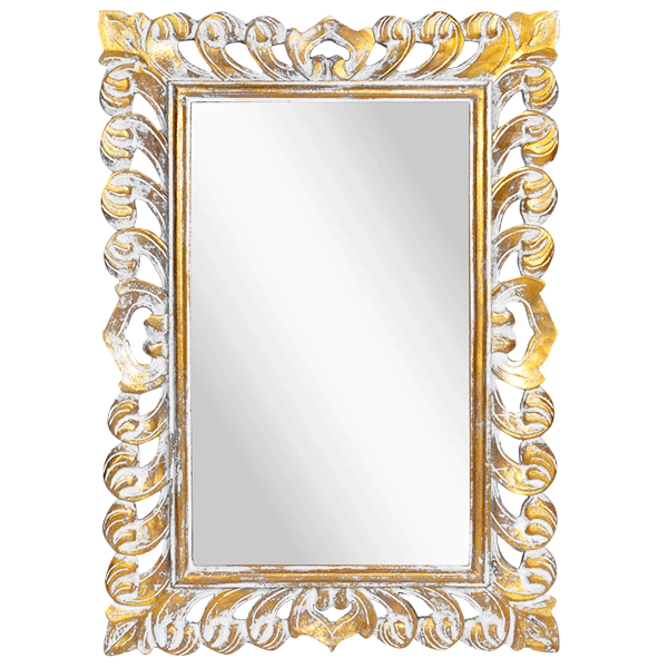 Зеркало Римини Премиум 50х70 см inside 32х52 см White Gold Wash