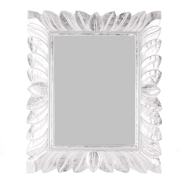 Зеркало  Лейла 50х60 см inside 32х42 см White Silver