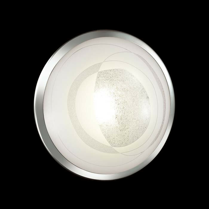 Светильник светодиодный СОНЕКС 2062/DL SN 078 св-к накл. MABIA стекло св/д 48W 4000K 4K D400 2360lm 82x400 хром/хром