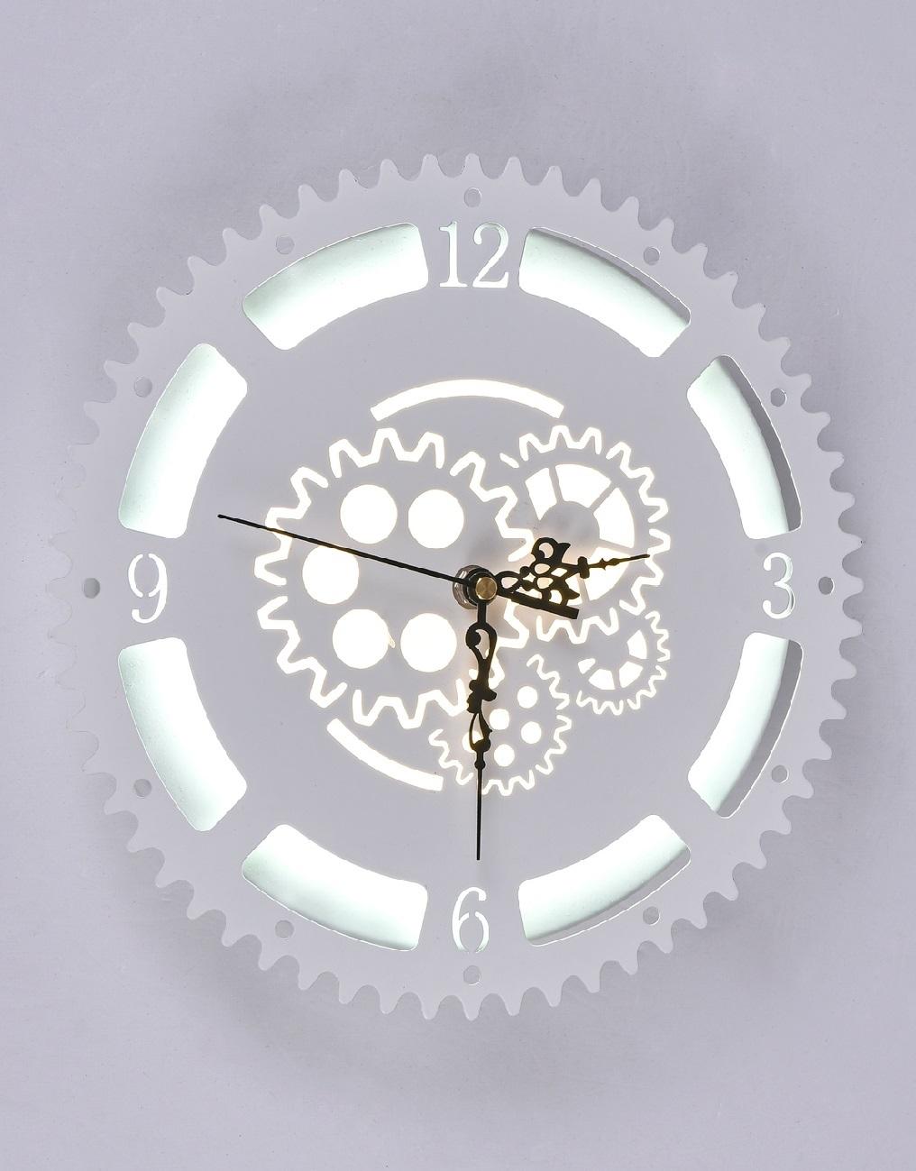 Часы с LED подсветкой  23Вт 6244-23W White
