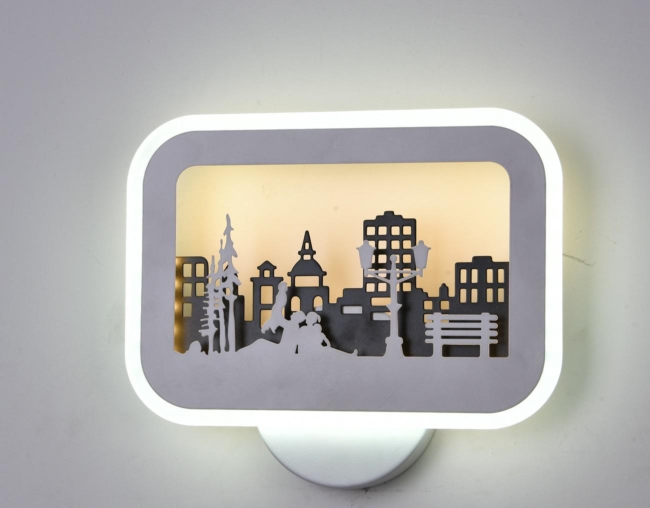 Бра Городской парк LED 6624-26W white+black