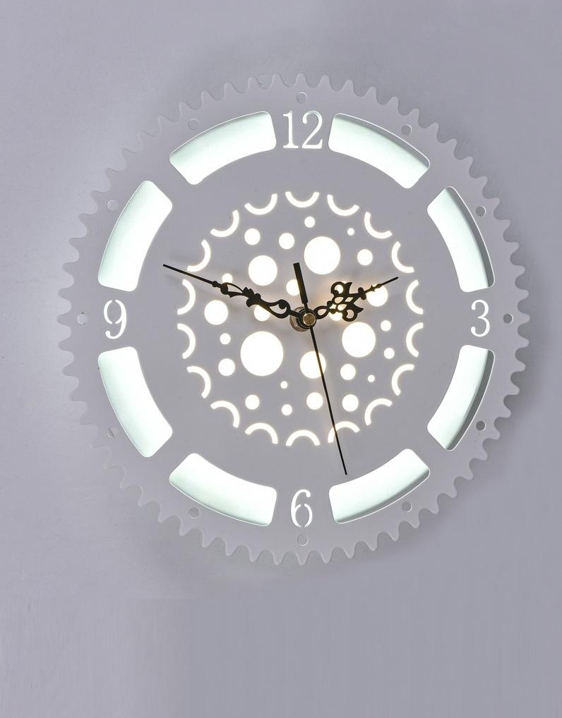 Часы с LED подсветкой 23вт 6245-23W White