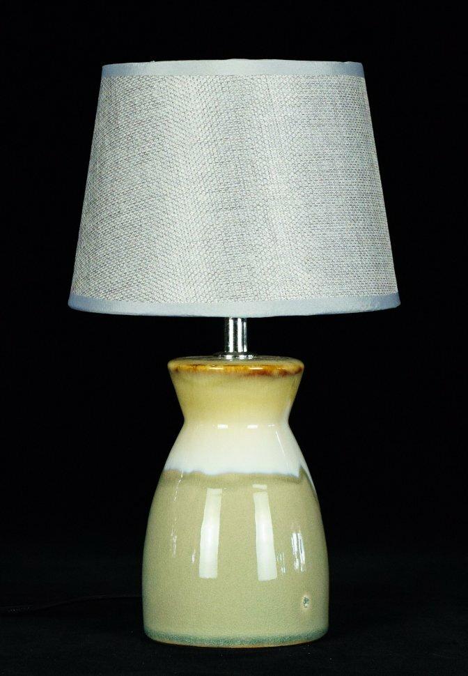 """Светильник настольный К-665-6"""" Светло серый+коричневый"""