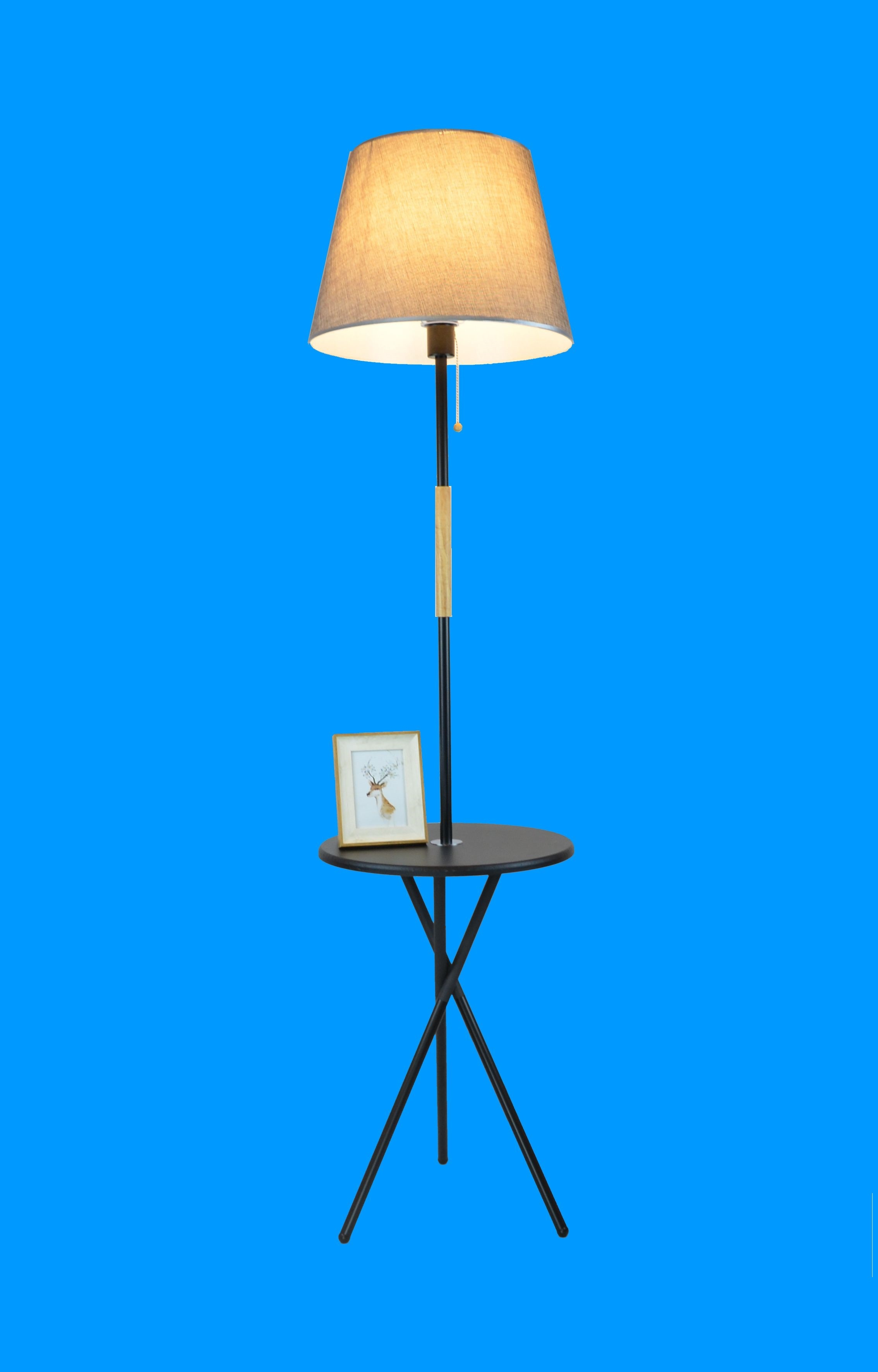 Торшер со столиком 9369B-BK