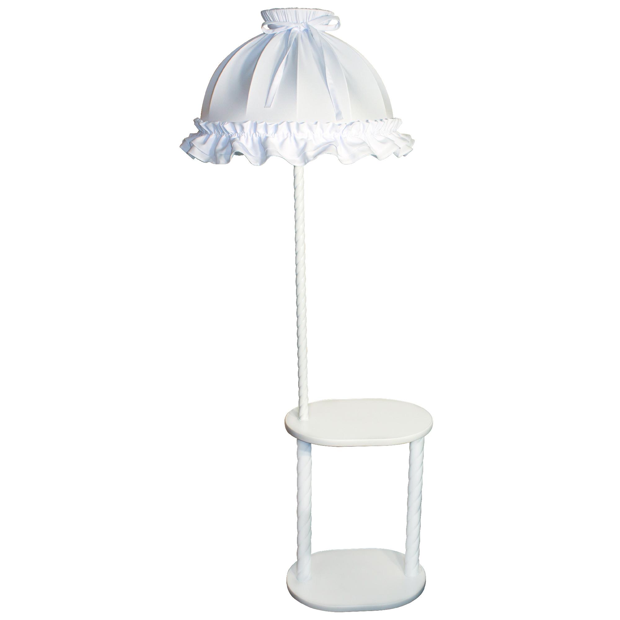 Торшер 301174 со столиком ОВАЛ Белый с аб.Нюша бел.
