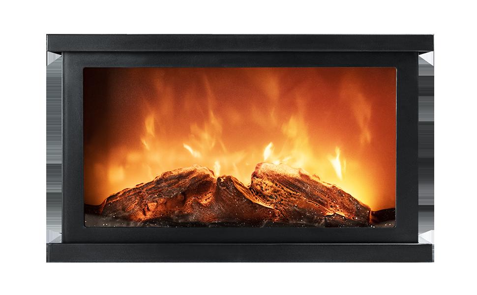 КАМИН СВЕТОДИОДНЫЙ эффект пламени (3xR14) выкл. 310x185x118 FL-L31