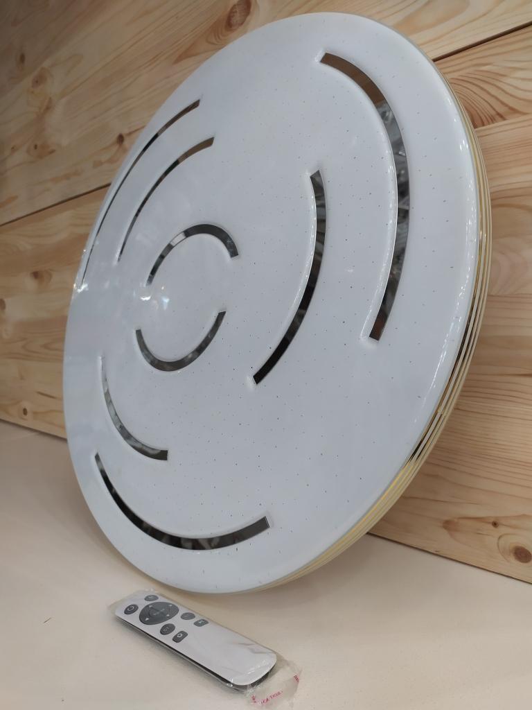 Светодиодный светильник с пультом 317 кант Золото 72Вт  /50см. 317 кант Хром 72Вт /50см.