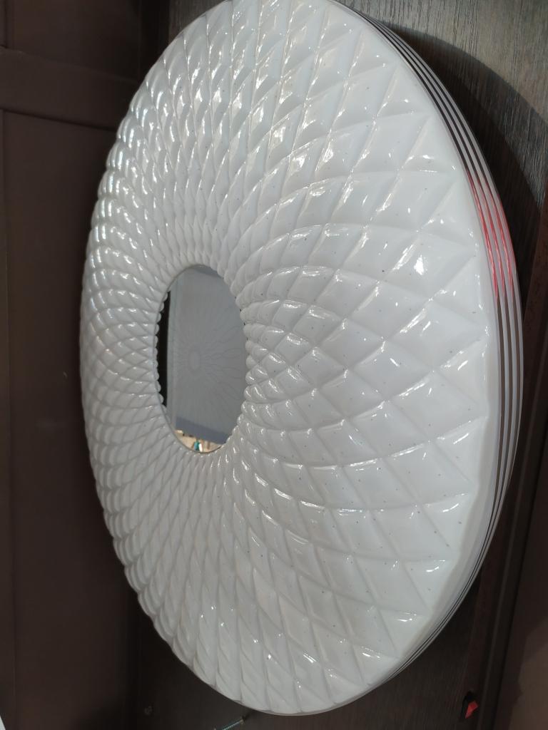 Светодиодный светильник с пультом 313 кант Хром  72Вт  /50см. 313 кант Золото 72Вт /50см.