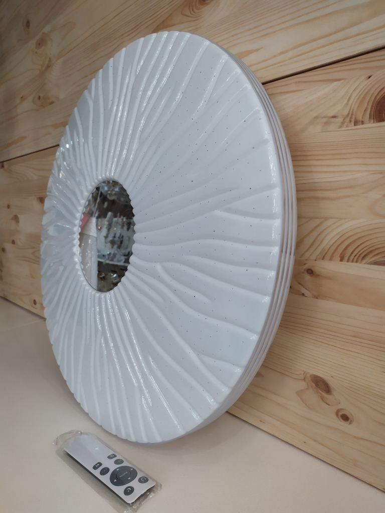 Светодиодный светильник с пультом 310 кант Хром 72Вт  /50см. 310 кант Золото 72Вт /50см.