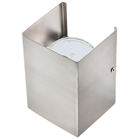 Настенный бра прямоугольный металл