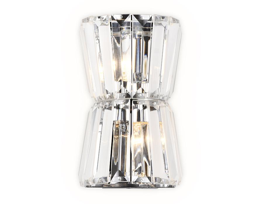Настенный светильник с хрусталем TR5217/2 СН/CL