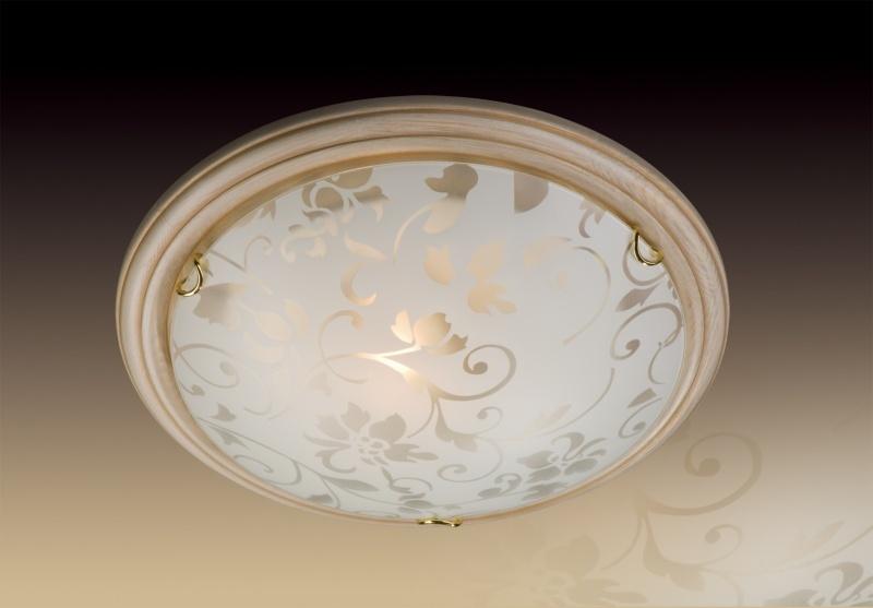 Светильник из дерева СОНЕКС 256 SN 102 PROVENCE CREMA стекло E27 2*100W D460 105x460 зол./беж.