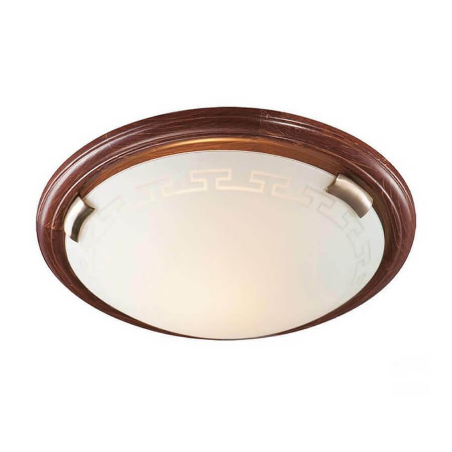 Светильник из дерева СОНЕКС 160/K SN 099  GRECA WOOD стекло E27 2*60W D360 80x360 бронз./корич.