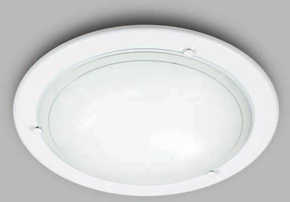 Светильник накладной СОНЕКС 211 SN 135 RIGA стекло E27 2*100W D380 105x380 бел./прозр.