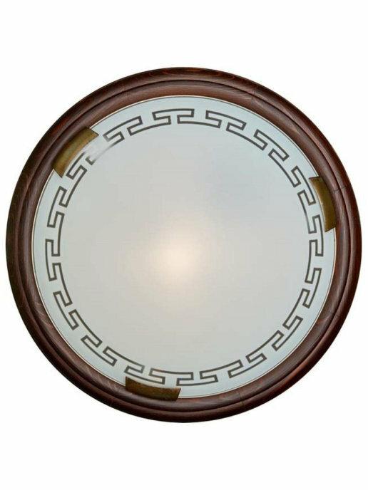 Светильник из дерева СОНЕКС 260 SN 099 GRECA WOOD стекло E27 2*100W D460 105x460 бронз./корич.