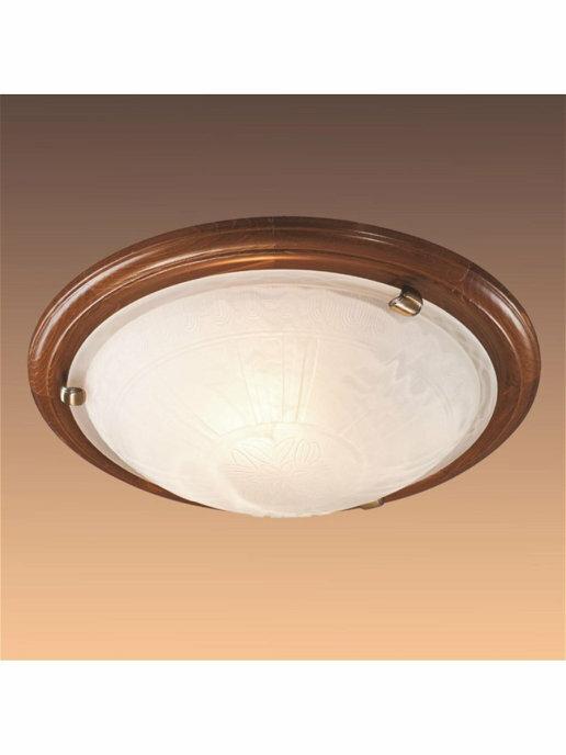 Светильник из дерева СОНЕКС 136/K SN 101 LUFE WOOD стекло E27 2*60W D360 80x360 бронз./корич.