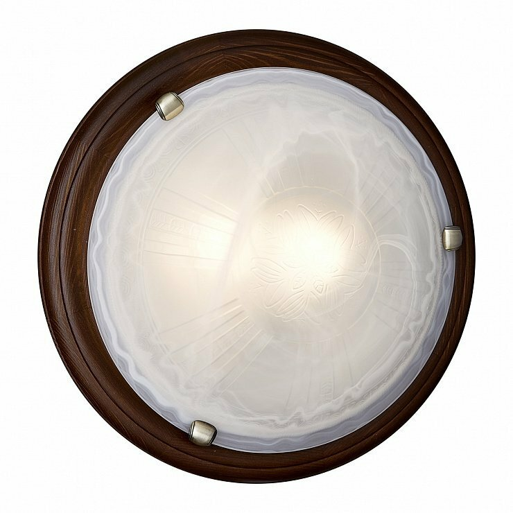 Светильник из дерева СОНЕКС 236 SN 101  LUFE WOOD стекло E27 2*100W D460 120x460 бронз./корич.