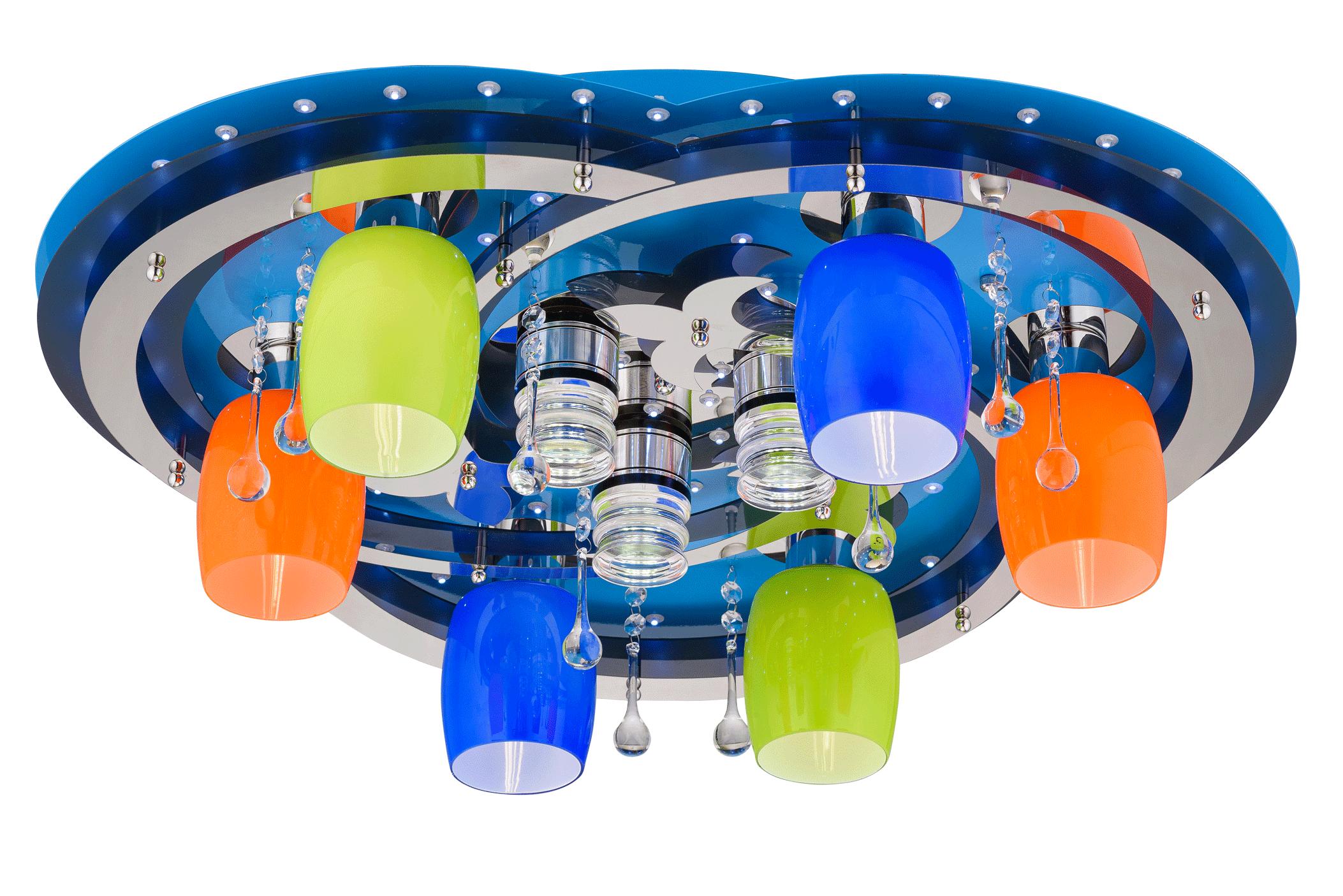 Люстра Космос 8355/6+3 BU+CR MIX