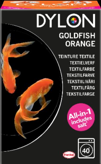 Dylon goldfish orange