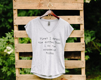 """""""First I Drink the Coffee"""" Tee"""