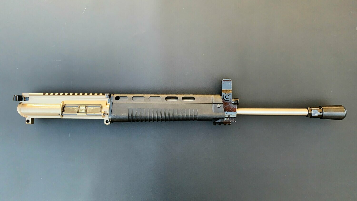T91 Complete Upper Desert Sand, 16-inch 15mm Slim Profile Stainless 416 Barrel With Polymer Handguard
