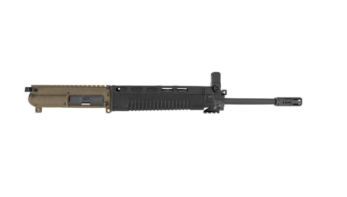 T91 Complete FDE Upper 14.5-inch Original 15mm MIL-SPEC Profile Chrome Lined Barrel With Black Polymer Handguard