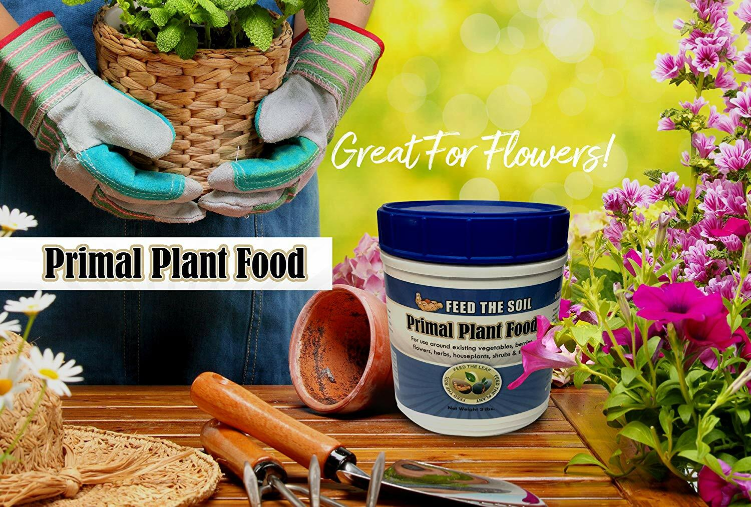 Primal Plant Food - Rock-Powder Based Organic Ingredients, 3 lbs.
