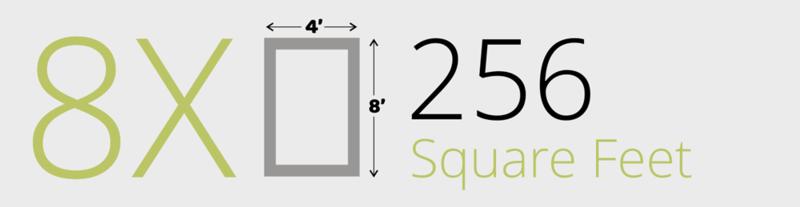 256 Square Feet