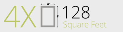 128 Square Feet