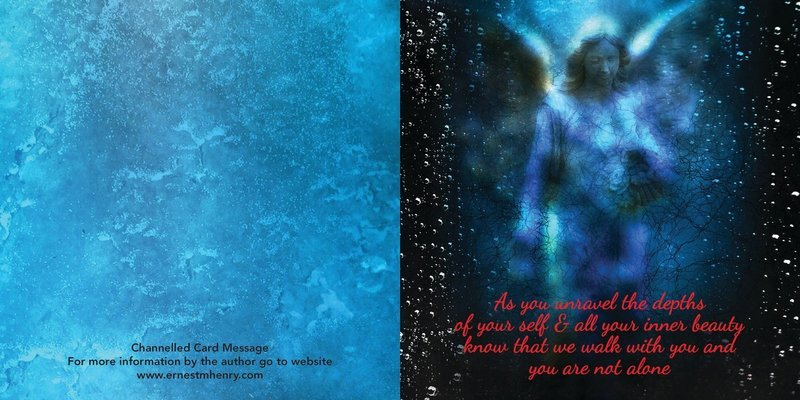Inspirational channelled message card - Never alone