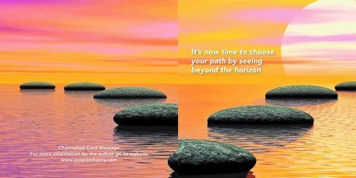 Inspirational channelled message card - Your path